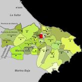 Localización de Sanet y Negrals respecto a la Marina Alta
