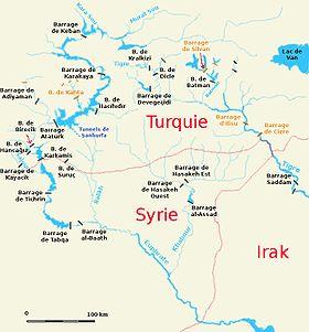 Obras  hidráulicas de la cuenca Tigris-Eufrates