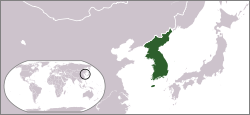 Ubicación de Corea