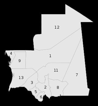 Mauritania regions numbered.svg