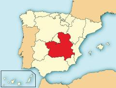 Ubicación de Castilla-La Mancha